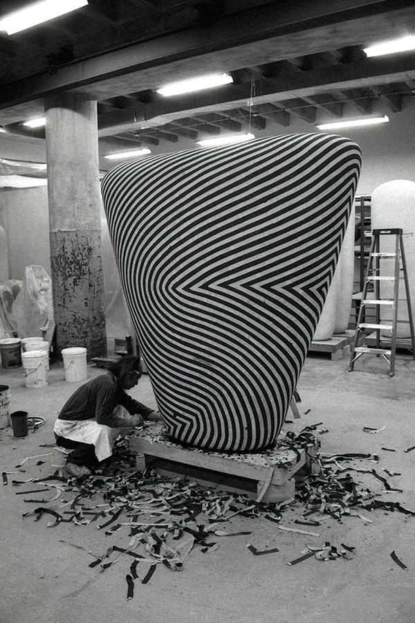 Unmasking the glazed stripe pattern from a triangle dango, 2000.
